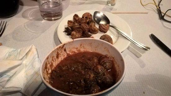Pieve Torina, Italia: Piatto Lumache