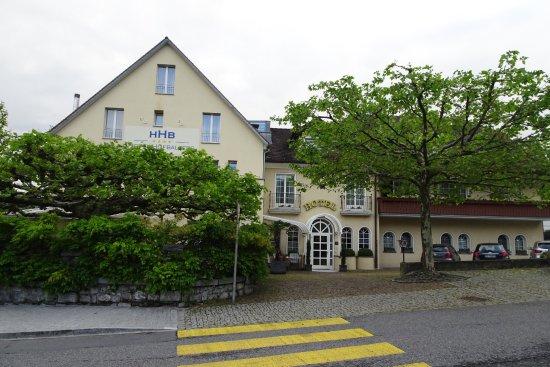 Balzers, Liechtenstein: front/car park/balcony rooms