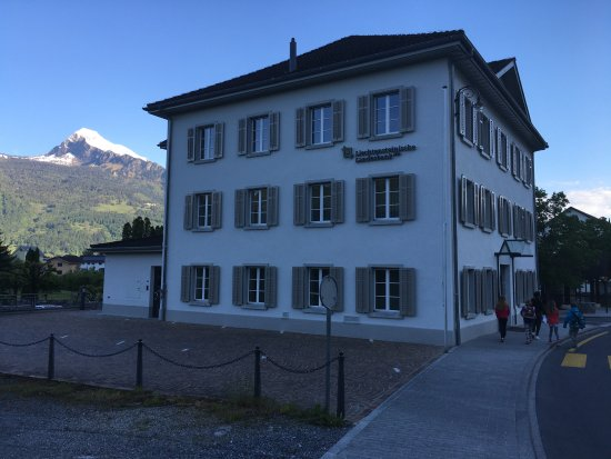 Balzers, Liechtenstein: view from side of hotel on main road