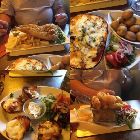 Sawbridgeworth, UK : So much food very tasty treat for hubby a birthday, great staff fab service no room for desert😞
