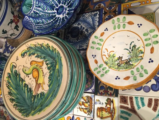 Antigua Casa Talavera Dinner plates and salad plates...All one of a & Dinner plates and salad plates...All one of a kind! - Picture of ...