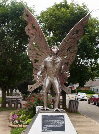 Mothman statue in Point Pleasant, WV - Picture of Mothman