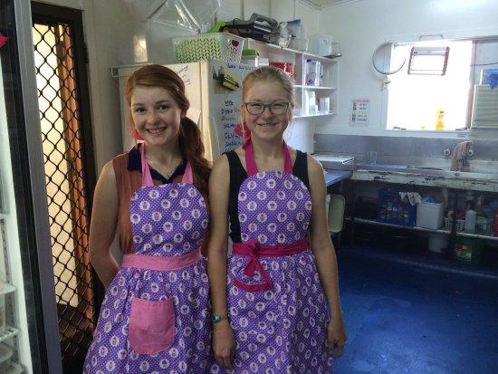 Herberton, أستراليا: girls new aprons