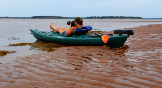 Murray Harbour, Canada: Kayaking around the Murray Islands after launching at Beach Point