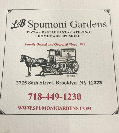 Sicilian Pizza Picture Of L B Spumoni Gardens Brooklyn Tripadvisor