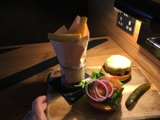 hamburger in het restaurant