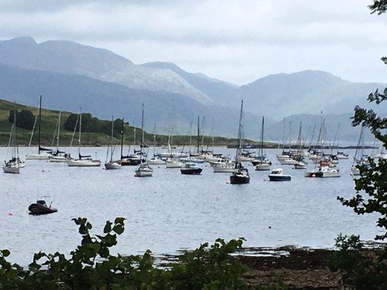 Appin, UK: Sailboats on Loch Linnhe