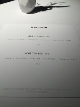 Menús en restaurante - Picture of 47 Ronin, Madrid - TripAdvisor