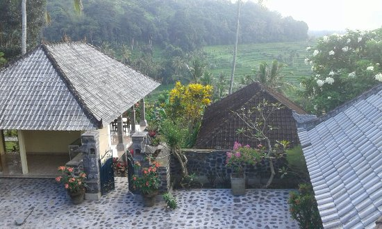Seraya, Indonesien: simple guest house lacated on top of the hill 7minutes walk from tirta gangga water palace,it ha