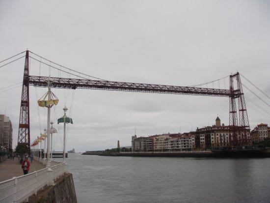 Provincia di Biscaglia, Spagna: Puente colgante, de finales del siglo XIX.