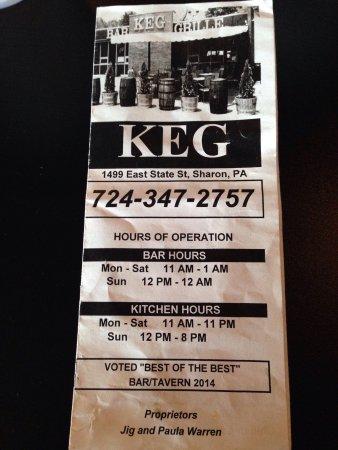 Sharon, PA: Keg Bar & Grille