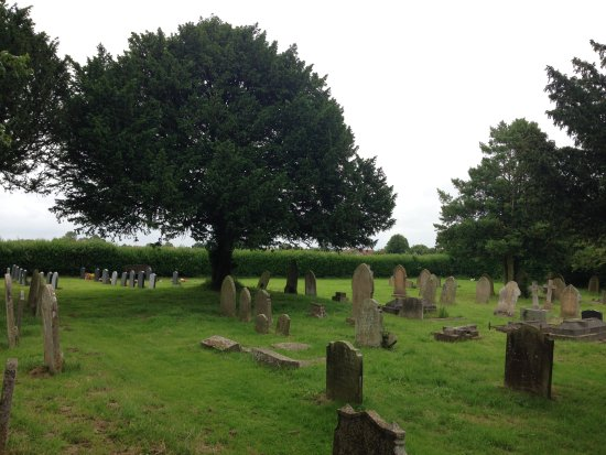 Suffolk, UK : Some of the church's graveyard.