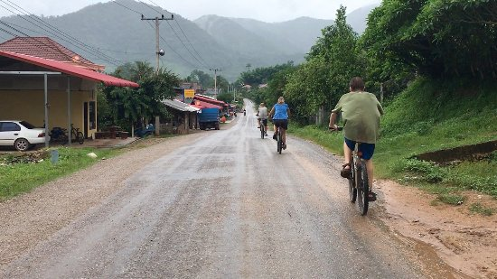 Mountain Biking through Muang La village.
