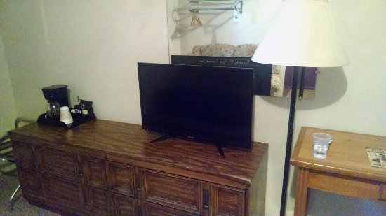 Montpelier, ID: TV is property of rest assured. I didn't want to touch the couch in front of it (visible in mirr