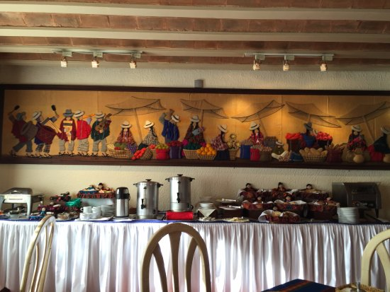 Hotel Rosario La Paz : Breakfast Spread