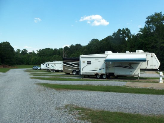 Meridian, MS: RV sites and pet field in back