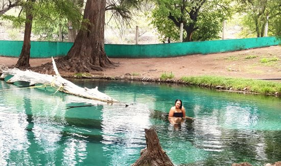 Puebla, Mexico: Enjoying the water sitting on a fallen tree