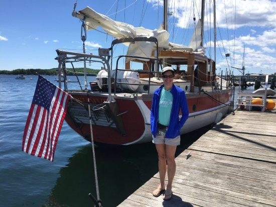 Castine, เมน: Casting boat dock
