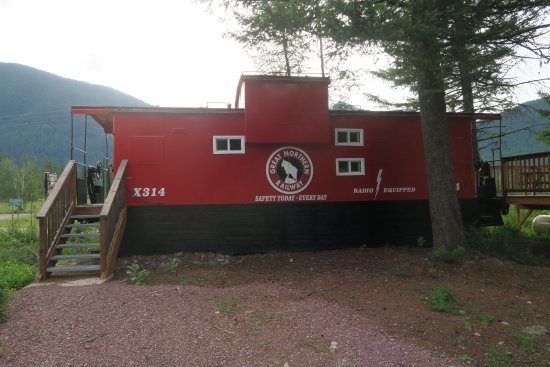 Essex, MT: The river view caboose