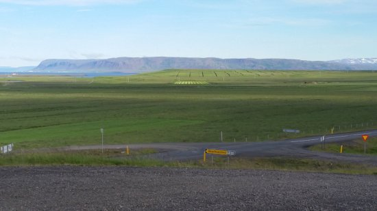 Budardalur, Islandia: View from the room over parking place