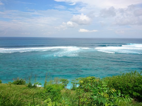 Gunung Payung Beach: capture dari atas tebing