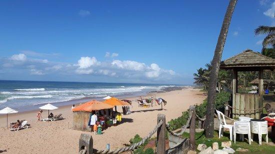 O hotel é na praia...