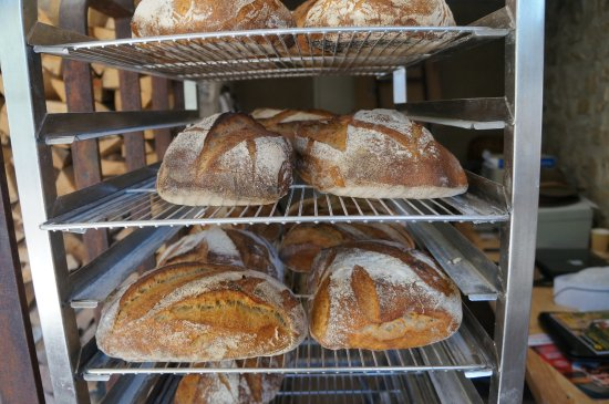 Les Maitres de Mon Moulin: The fresh bread just out of oven.