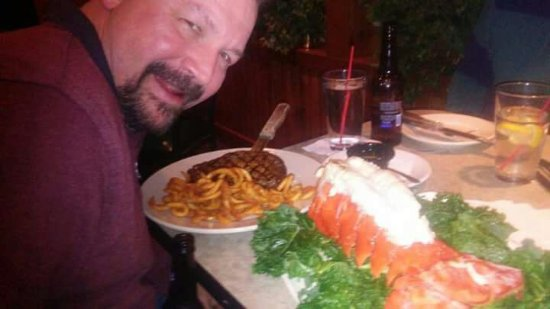 Wolcottville, IN: Adams Lake Pub! Lobster tail perfection!