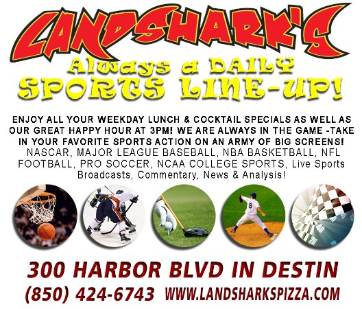 Landshark's Pizza: Lots of SPORTS on an ARMY of BIG Screen TVs!