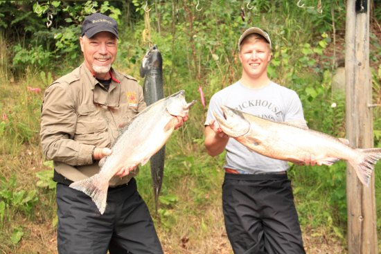 Riddle's Fishing Lodge: King Salmon caught on the Kenai River