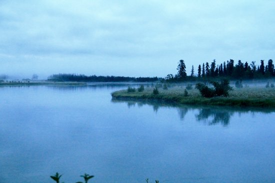 From the deck of the lodge - overlooking the Kenai River.