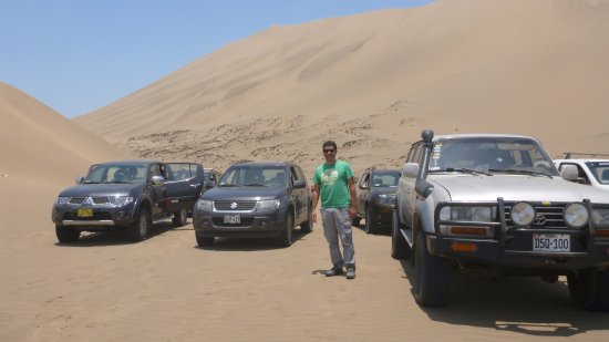 Região de Lima, Peru: Equipo 4x4 (antes del primer descenso)