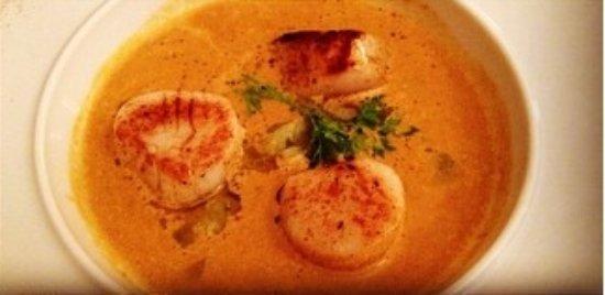 Saint-Martin-de-Crau, Francja: Délicieuse soupe aux St jacques