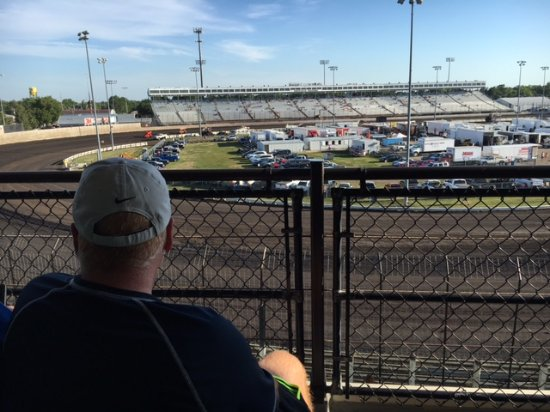 Knoxville Raceway from the Hall of Fame Suites