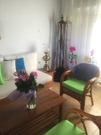 Ismini Apartments: Isminis apartments are tastefully decorated .