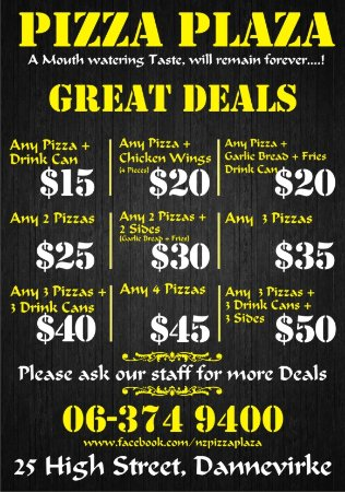 Best deals for Pizza in Dannevirke