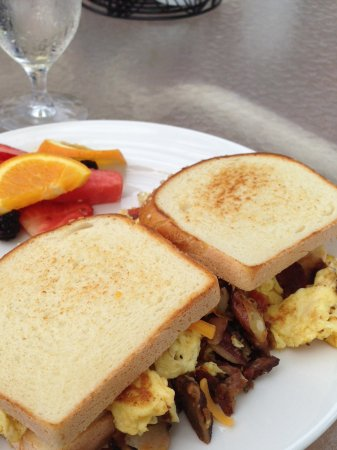 Roanoke, WV: Eggs, bacon, cheese wrap/ gluten free bread