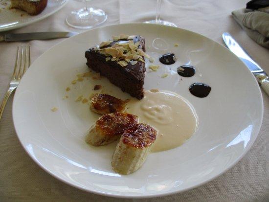 Ristorante Imbarcadero: Brownie au chocolat et bananes caramélisées