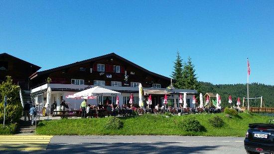Willerzell, Schweiz: Ресторан Саттелег на высоте 1200м