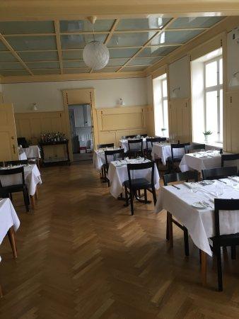 Sakskoebing, Dinamarca: Den hyggelige restaurant