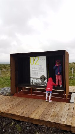 """Alcock and Brown Landing Site: Little interpretation """"pods"""" along the walk in give information & also shelter from the rain!"""