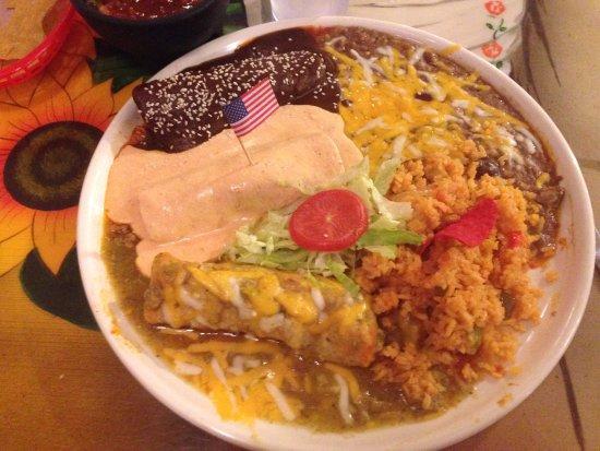 Vernal, UT: Three different enchiladas.