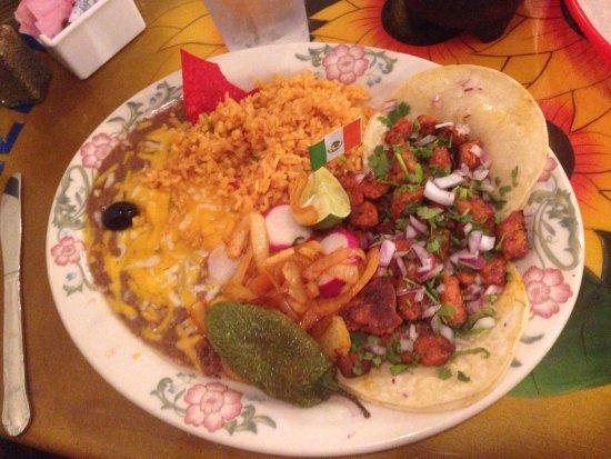 Vernal, UT: Marinated pork taco.