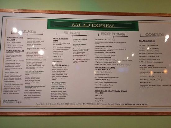 Peachtree City, Geórgia: Salad Express