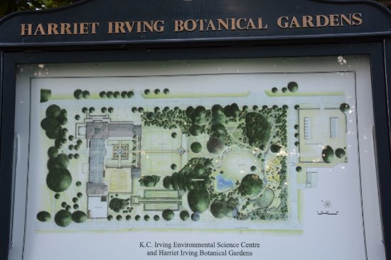 The K.C. Irving Environmental Science Centre and Harriet Irving Botanical Gardens: Botanical Garden Map