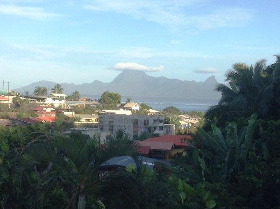 FareHau: View of Moorea from the verandah