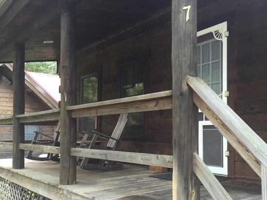 West Union, OH: Front porch of frolic cabin