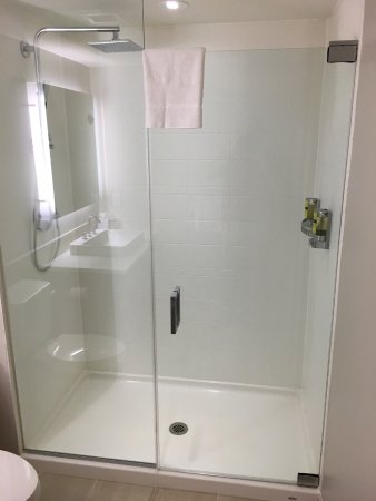 element boston seaport large shower with rainfall shower head