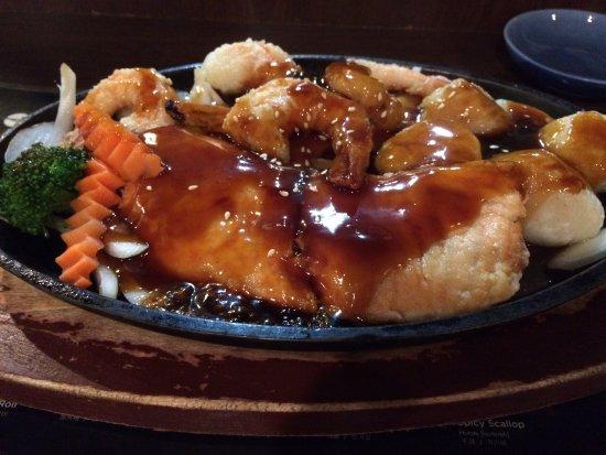 Horseheads, NY: seafood teriyaki - hotplate