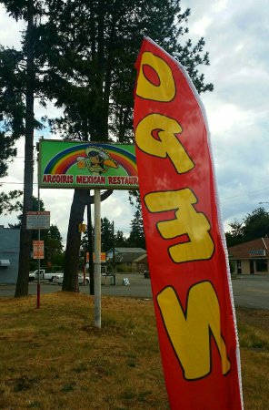 Lakewood, WA: Exceeded expectations.  A Mexican restaurant with great food, wine and delivery?!?!